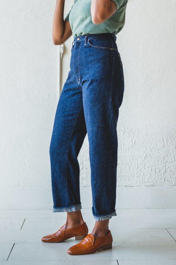 Orslow High Waist Denim Pants - One Year Wash