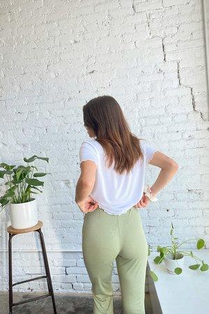 Lisa Says Gah Bec Bell Bottom Pant - Sage