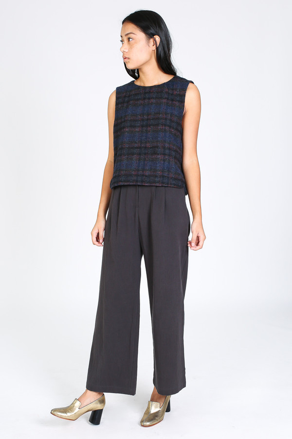 Steven Alan Myres top in navy/red plaid