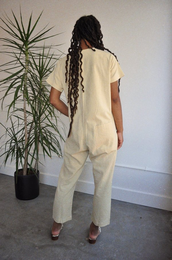 Happy French Gang Jumpsuit - Champagne