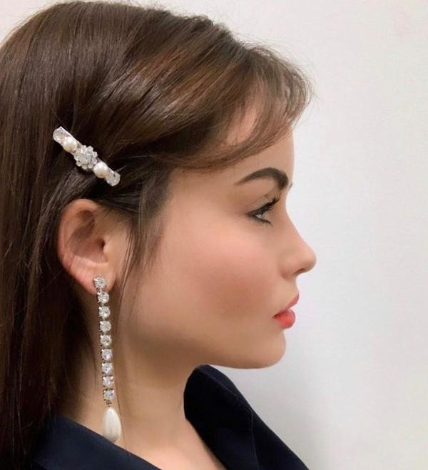 Joomi Lim Crystal Chain Earrings W/ Tear Drop Pearls - Rhodium/Crystal/White