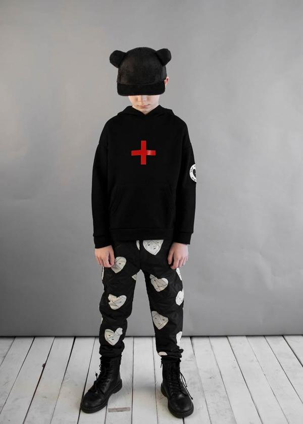 Kids Beau Loves Cross Hoodie - Black