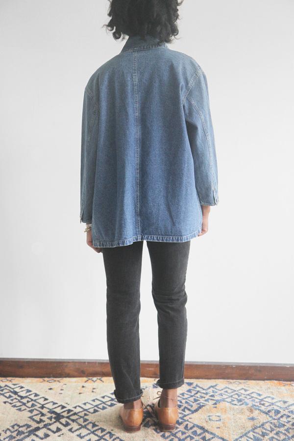 The Shudio Vintage Denim Studio Coat