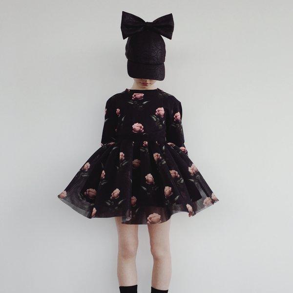 Kids Caroline Bosmans Rose Mini Skirt - Black