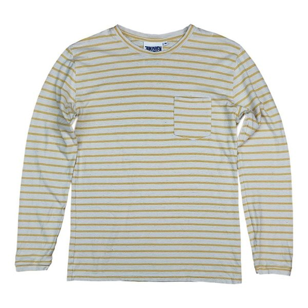 unisex Jungmaven Classic Stripe Baja Long Sleeve Pocket Tee