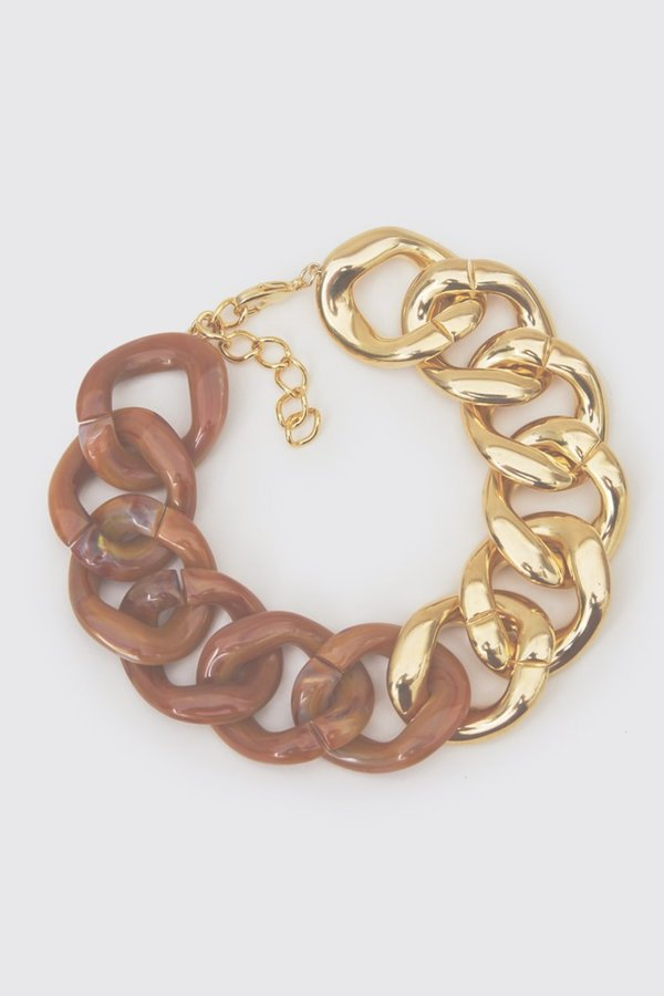 Rachel Comey Pezzo Choker - Shiny Gold/Clear Caramel
