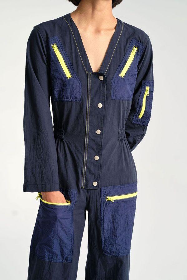 Rachel Antonoff Amelia Flight Suit - Navy