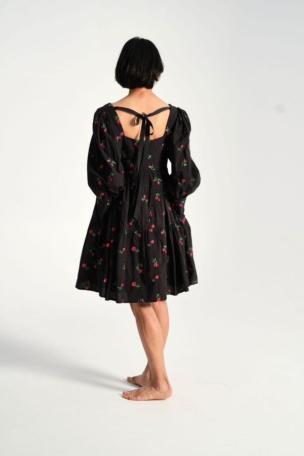 Rachel Antonoff Christa Empire Dress - Black Rose