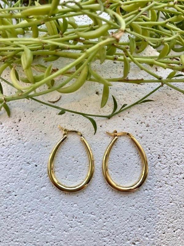 Machete Oval Hoops - Gold