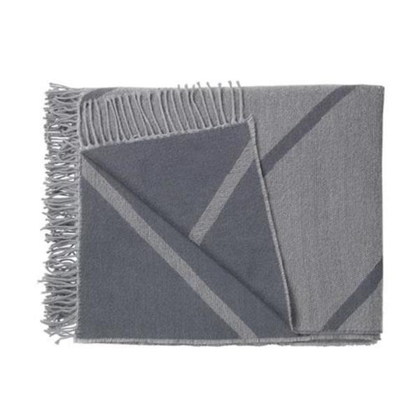 By Lassen Mesch Peruvian Wool Blanket - Gray