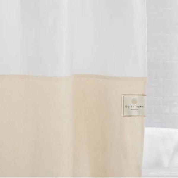 Quiet Town Home Orient Shower Curtain - Sand
