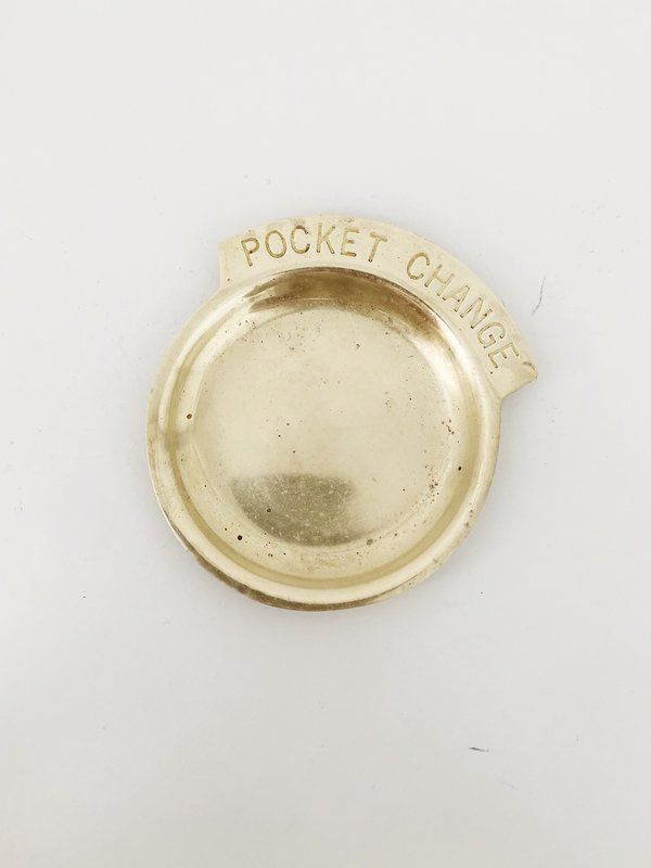 Vintage Pocket Change Dish - Brass