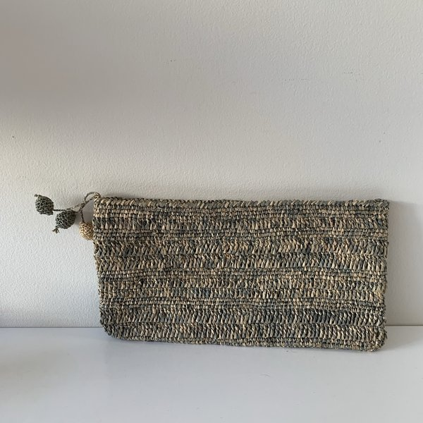 BEFORE MARCH Two Tone Clutch - Blue/grey