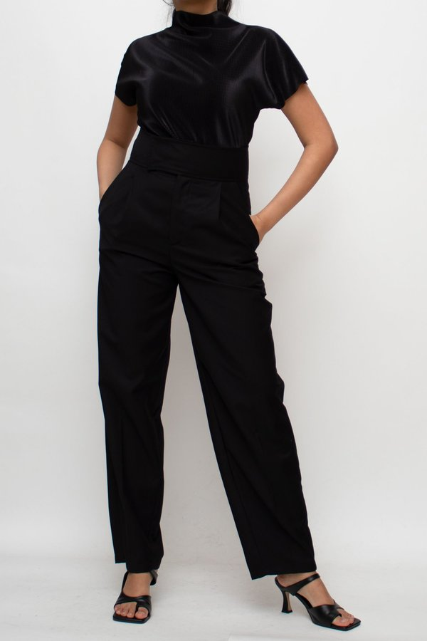 W A N T S Straight-leg Pants - Black