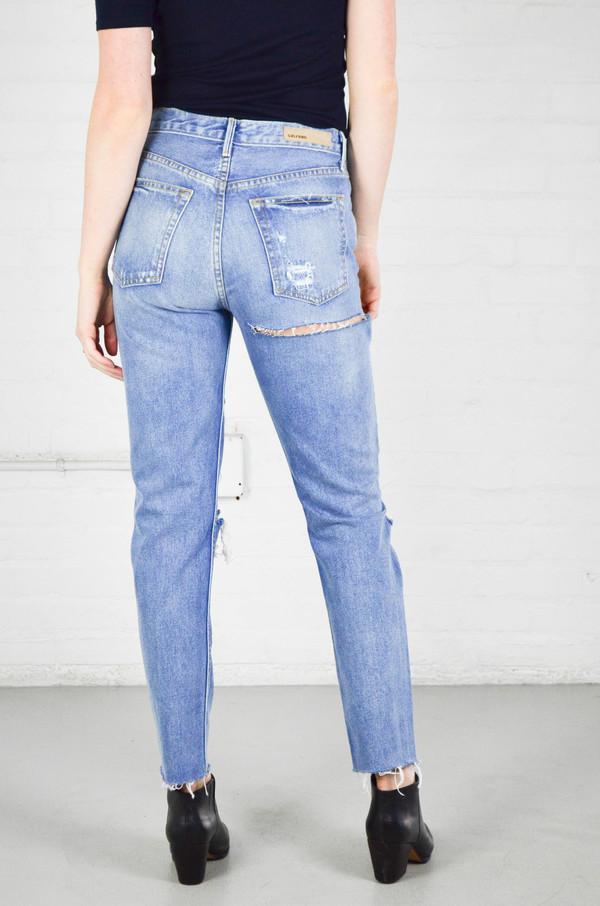 76195d508c5 GRLFRND Karolina Back Slit High-Rise Skinny Jeans