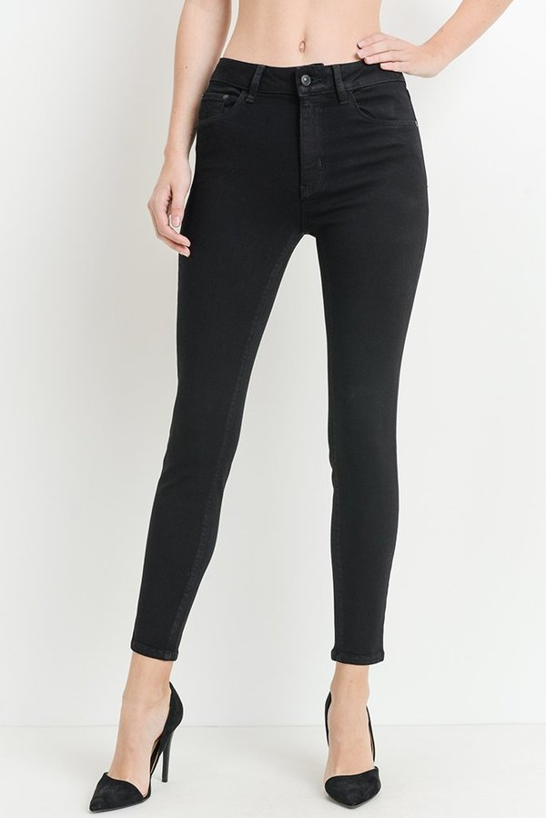 Just Black Hi Rise Basic Skinny Jeans - Black