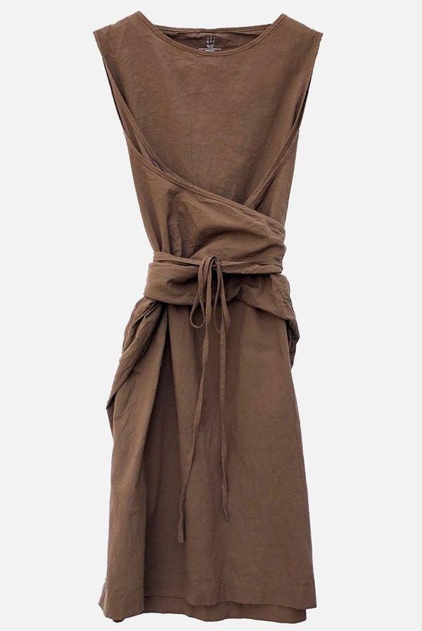 Uzi NYC Oxford Dress - Brown