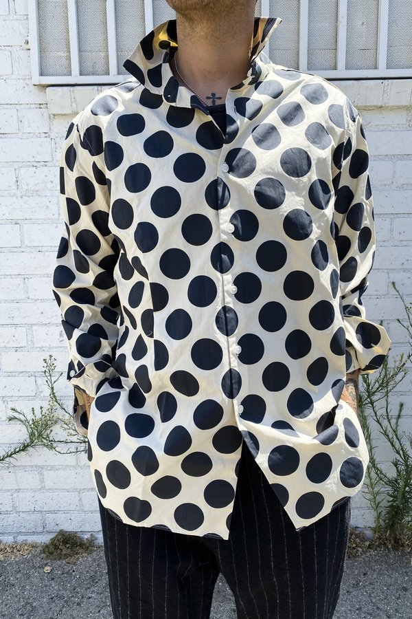 Casey Casey Big Raccourcie Shirt - Natural/Polka Dot