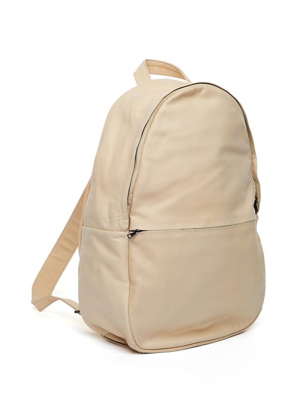 Isaac Reina Ultra Soft Leather Backpack - BEIGE