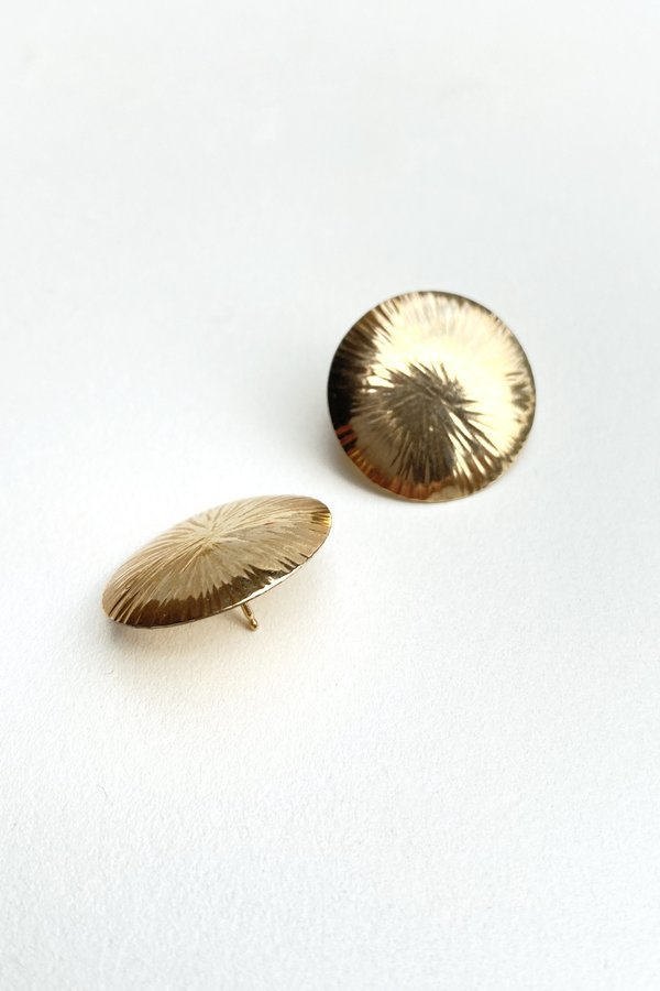 Vintage Round Sunburst Studs - 12k Gold Fill