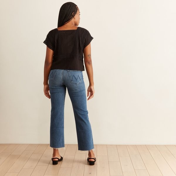 Mother Denim Rambler Ankle Fray Jeans - Groovin
