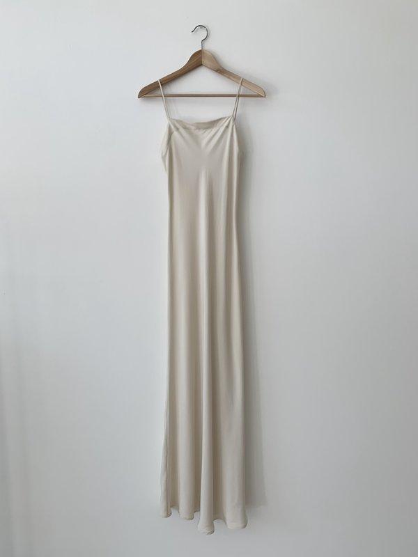 Kamperett Long Silk Slip - Ivory