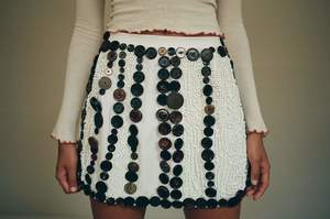 Sydney Pimbley Button Embellished Skirt