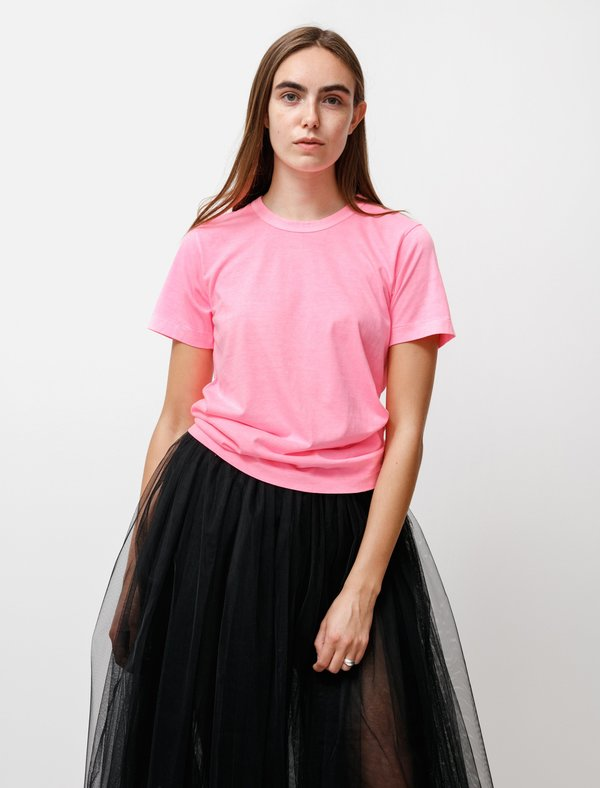 Comme des Garçons Basic T Shirt - Hyper Pink