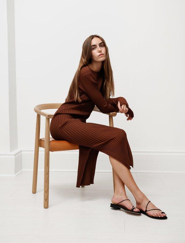 Totême Orville Knit Dress - Dark Brown