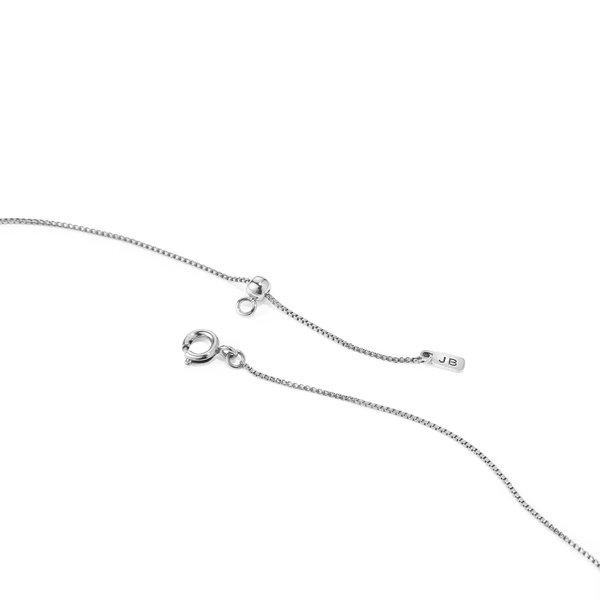 Jenny Bird Horseshoe Charm Necklace - Silver