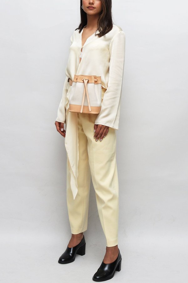 W A N T S Textile Belt Bag - Tan Leather/Cream