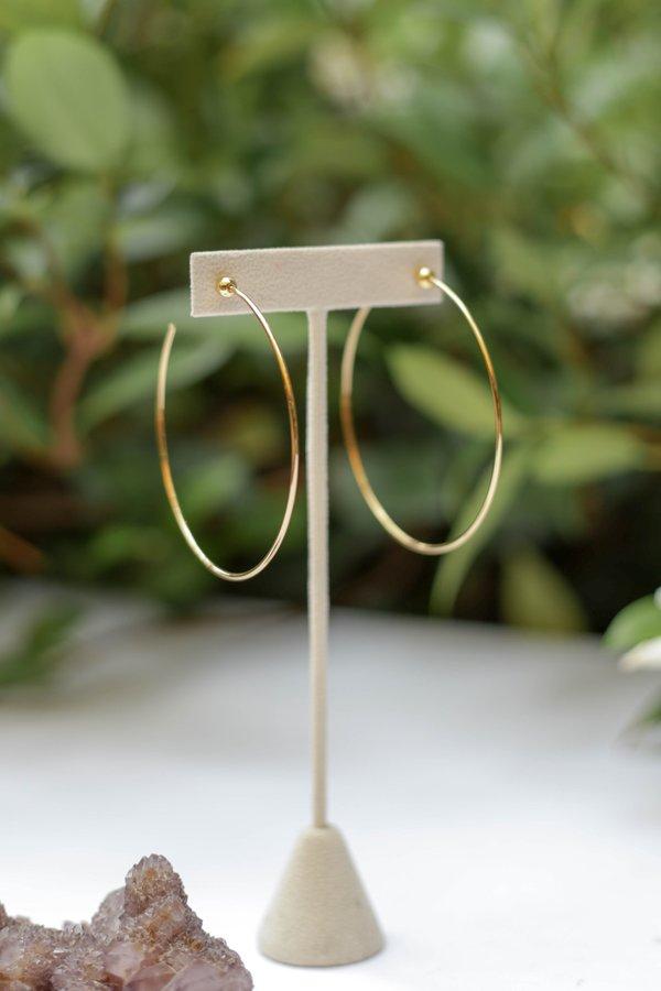 Jenny Bird Medium Icon Hoops - Gold