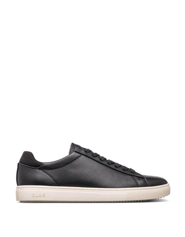 Clae Bradley Milled Leather Sneakers - Black