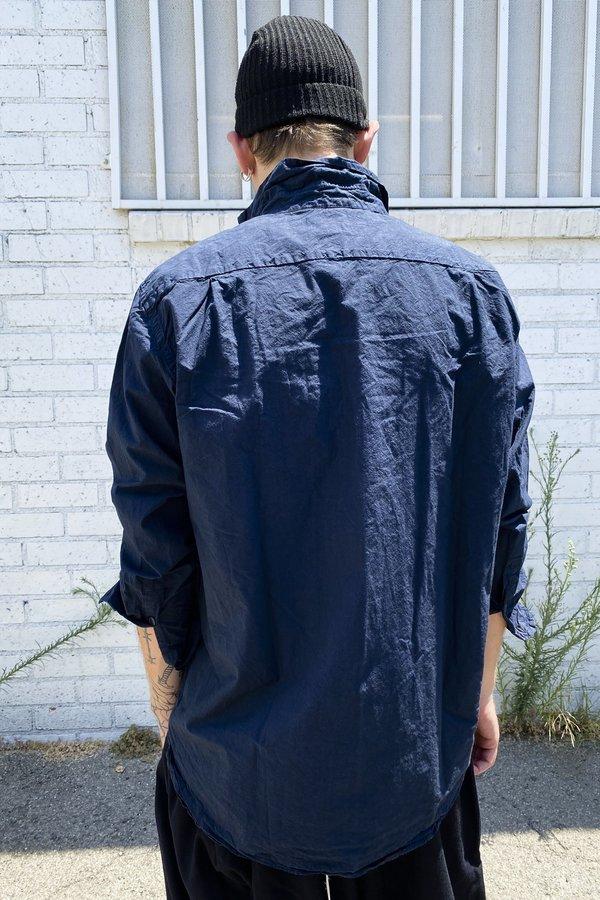 Casey Casey Paper Big Raccourcie Shirt - Navy