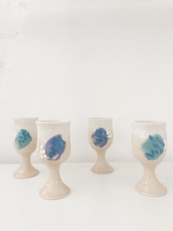 Vintage 80s Pitcher & Glass Set