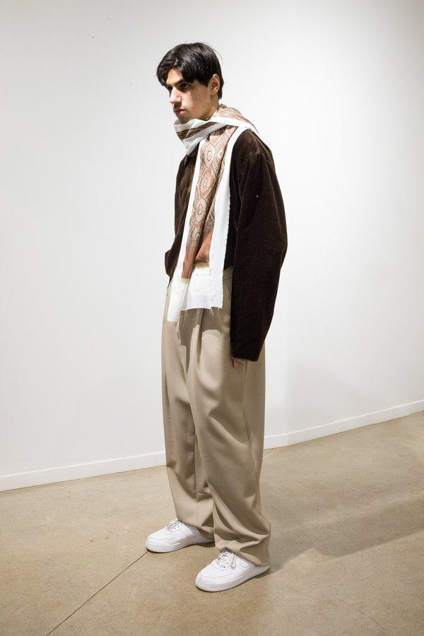 Camiel Fortgens Silk Scarf - White/Trompe-l'œil Print