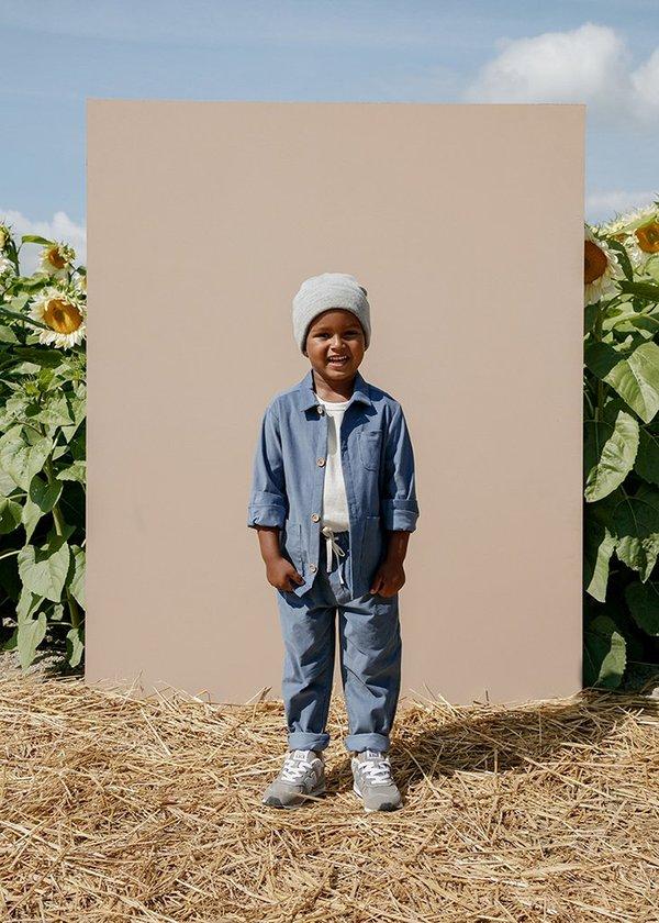 kids Petits Vilains Oscar Chore Shirt - Blue