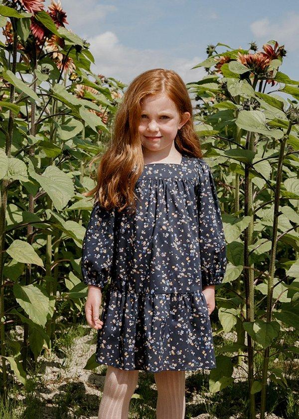 Kids Petits Vilains Maelle Square Neck Dress - Staccato