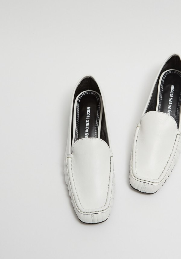 Nicole Saldana Ryan Shoe - White Leather