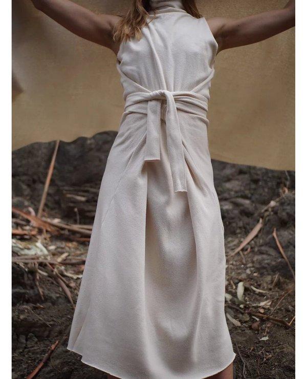 HERDERIN Wrap Sherpa Dress - Natural