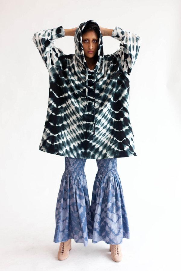 Abacaxi Tie Dye Kurta Hoodie - Zebra