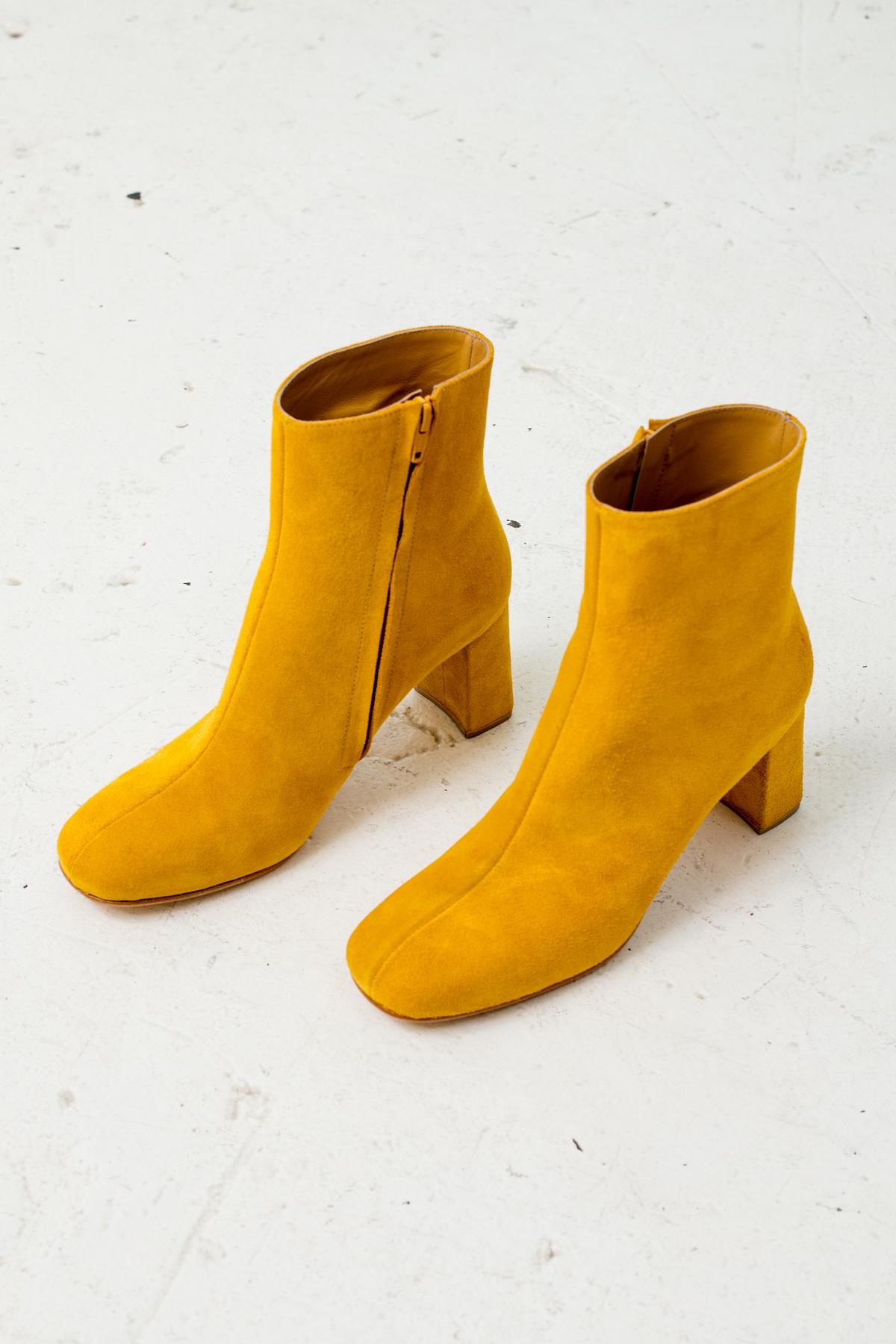Maryam Nasir Zadeh Agnes Boot Mustard Suede Garmentory