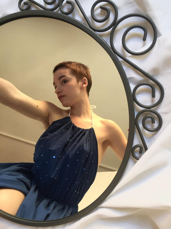 SIZ AIALIK DRESS - DARK BLUE
