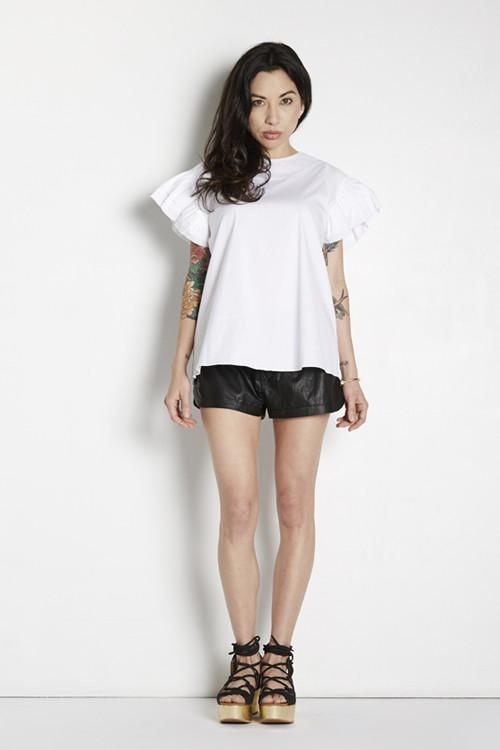 Tina Blossom Ruffle Sleeve Top