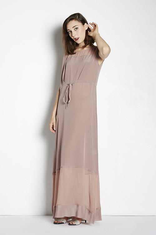 7115 Sheer Panel Maxi Dress Garmentory