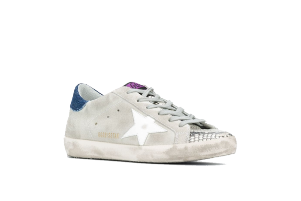 Golden Goose Superstar Suede Upper/Python Printed Toe Women GWF00101-F000103 sneakers - gray