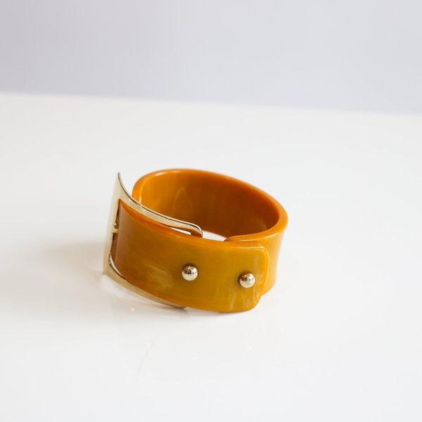 Vintage Buckle Bracelet - Orange