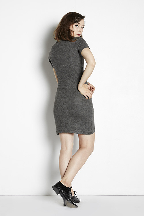 Shades of Grey  Wrap Mini Dress