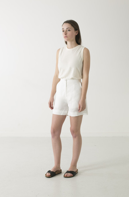 GOOD STUDIOS HEMP LINEN HIGH WAIST SHORTS