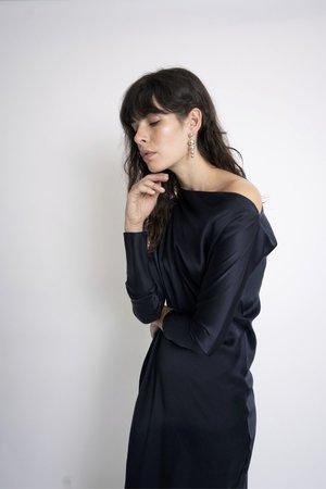 KES Zora Asymmetric Dress - Midnight